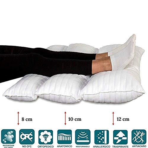 EvergreenWeb–Cojín Piernas terapéutico plegable de cama o sofá, ortopédico para la recuperación de Chirurgia, dolor de espalda y al Anca, el dolor de la pierna, Circulación, tamaños 80x 60pilmed