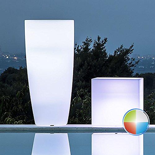 Vase rund 'STILO Lamp' mit Innenlicht. Polyethylen bunt. Elegante in Puro Stil Modern, ist ein gutes Wohnaccessoires und passt zu vielen Umgebungen in denen angebracht werden.