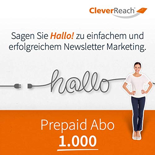 CleverReach Newsletter Software, Email Marketing Automation, Prepaid Abo 1.000,Web Browser, Monatliches Abonnement