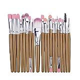 KEHUITONG PSWK 20 / 5pcs Pinceles de Maquillaje Conjunto de Sombra de Ojos Fundación Polvo Eyeliner Eyelash Lab Lab Lip Make Up Pincel Cosmetic Beauty Tool Kit Hot (Handle Color : Shua 20 KY)
