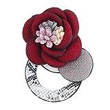 LEEYYO - Broche para mujer y niña, diseño de flores de piel, para varias fiestas y uso diario