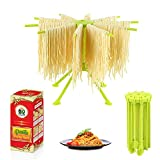 GOZIHA Pasta Drying Rack Noodle Stand with 10 Bar Handles Collapsible | Household Noodle Dryer Rack...