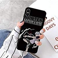 Hunter×h-unter ハンター×ハンター ケース Iphone用,hxh Iphone 11 Pro アニメファンのための強化ガラス保護カバー,キルア=ゾルディック C Iphone 7/8-6Plus_6SPlus_a4