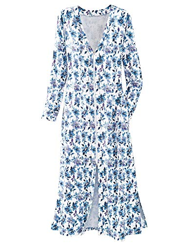 National Frenchie Floral Robe, White Floral, 2X