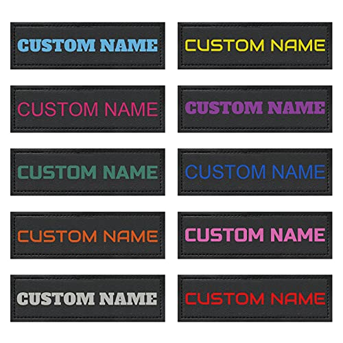 Custom Colorful Name Personalized Dog Vest Patches, 2 PCS Removable Patches for Dog Harness –Tactical Dog Harness Patches,4 Fonts and 10 Colors to Choose