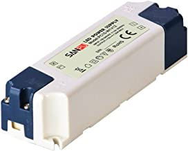 SMPS LED Driver Power Supply 12V DC 15W 1.25A Plastic IP44 Indoor Use Constant Voltage AC-DC Transformer for LED Tapes 12W (SANPU PC15-W1V12)