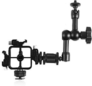 TNP Hot Shoe Mount w Triple Bracket  Magic Arm Stand Adapter Set for F...