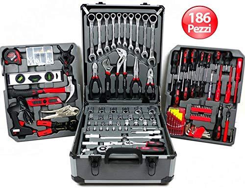 Swiss Kraft 186-delige gereedschapsset met ratelsleutel in gereedschapskoffer