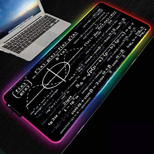ZETIAN Luminoso RGB Led-Leuchten Desktop Gaming Maus Pad Kissen Computer ZubehörMauspad Notebook Pad-ecuación_Los 400X800X4MM