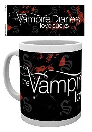 1art1® Set: Crónicas Vampíricas, Logo, Love Sucks Taza Foto (9x8 cm) Y 1x...