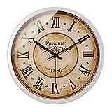 SCJ Reloj de Pared de Metal de Estilo Retro barriendo Silenciosamente