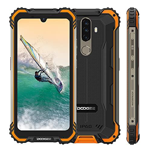 Rugged Smartphone DOOGEE S58 PRO, Android 10 Cellulare Rugged, IP68 5180mAh Batteria, 6GB +64GB, 5.71 Pollici, 16 MP + 16 MP Tripla Fotocamera, NFC, GPS, Dual SIM 4G, Arancia