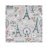 TropicalLife HaJie Servilletas románticas de Londres, torre Eiffel de ojo de Londres, servilletas reutilizables de tela de poliéster satinado para mesa de niños, 50,8 x 50,8 cm, 6 unidades