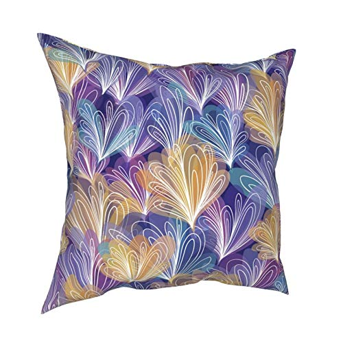 HXJIULI Abstract Pattern with Loops Four Seasons Throw Pillowcase Home Decorative Square Cushion Cover Double-Sided Printing Cozy Throw Pillows Covers 18X18in
