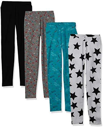 Spotted Zebra Girls Kids Leggings 4 Pack Super Star Small product image