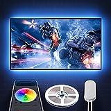 Govee TV LED Lights, App Control TV LED Strip Lights, 7 Scene Modes & DIY Mode, 6.56FT Easy Installation USB TV LED Light Strip for 40-60 inch TVs, Computer, Bedroom, Gaming Monitor