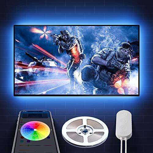 Govee TV LED Backlights, 6.56FT App Control TV Lights, 7 Scene Modes, DIY Mode LED Lights for TV, Easy Installation USB TV LED Light Strip for 40-60 inch TVs, Computer, Bedroom, Gaming Monitor