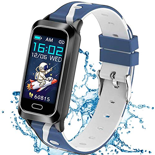 Inspiratek Kids Fitness Tracker for Girls and Boys Age 5-16 (5 Colors), Kids Activity Tracker, Fitness Watch for Kids - Fitness Tracker for Kids - Activity Tracker for Kids , Kids Step Tracker (Blue)