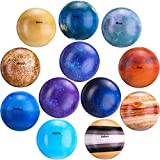 12 Bolas de Estrés de Sistema Solar Bola de Planeta de Galaxia Bola Educativa de Planeta Solar de Astronomía Espacio Exterior Juguete Sensorial de Ansiedad Fidget Juguete de Planeta de PU