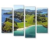 islandburner Bild Bilder auf Leinwand Neuseeland 4er XXL
