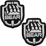 Parches de PVC con diseño de pata de oso USEC para escapar de Tarkov EFT, tácticas militares morales emblemas de decoración divertida, apliques de bricolaje – Cierre de gancho y bucle de respaldo