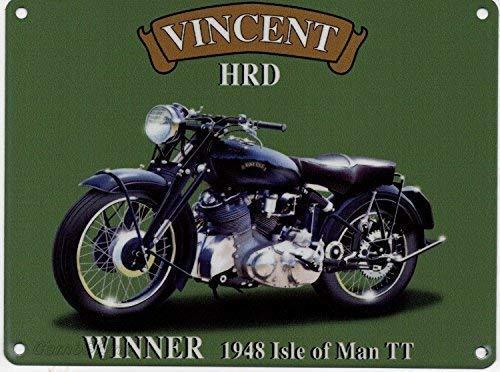 RKO Vincent HRD Moto 1948 Isle of Man TT Bike-Parent - 9 x 6.5 cm (Magnet)