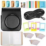 Neewer 25-en-1 Kit Accesorios para Fujifilm Instax Mini 70: Caja de Cámara/Álbum/Filtros de Color/Marcos de Mesa de Cine/Marcos de Pared/Pack(30) Etiquetas de Frontera/Correa(Negro)