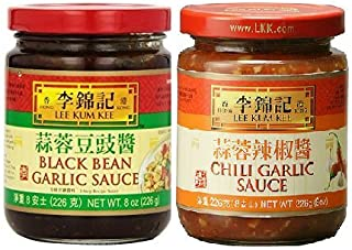 Lee Kum Kee 2 Flavor Variety Pack - Black Bean Garlic Sauce & Chili Garlic Sauce,8 Ounce (Pack of 2)