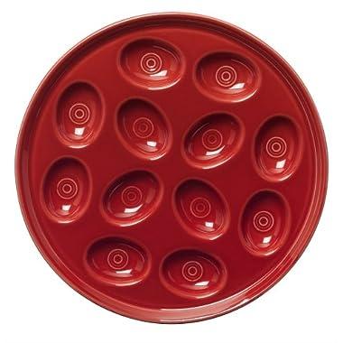 Fiesta 11-Inch Egg Tray, Scarlet