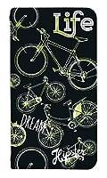 [Google Pixel4a] ベルトなし スマホケース 手帳型 ケース グーグル ピクセル4a 8017-D. バイク黒白 かわいい 可愛い 人気 柄 ケータイケース 自転車