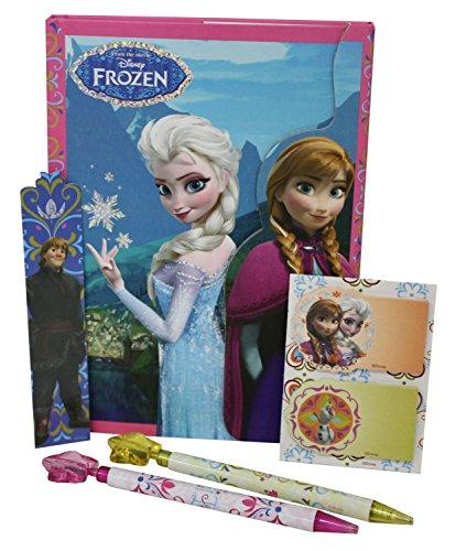 Disney Frozen – Glitter, Agenda con Accesorios, Color Rosa, Verde y Morado