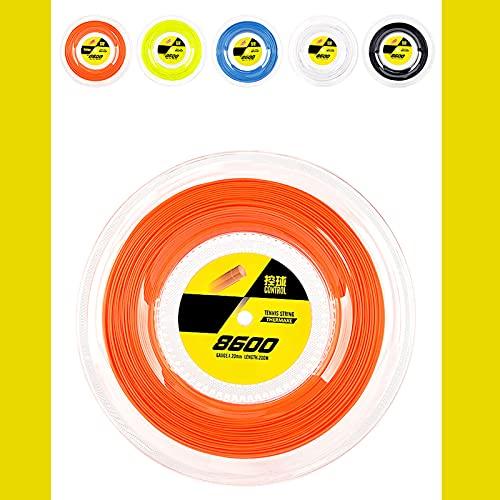 GUOJIUXIAO Raqueta de Tenis Diálotro de Cadena de 1.20 mm, 6 ángulo Fuerte Helix Duro, Fuerza, Control, Fuerza, Durabilidad / 8600-200 Metros