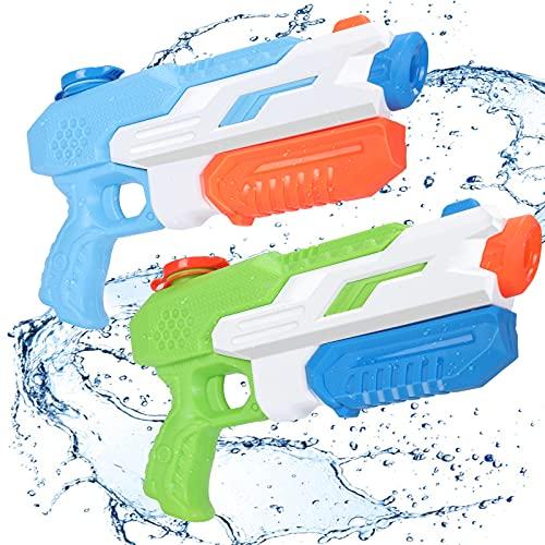 Wasserpistole Spielzeug für Kinder, joylink 2er 650ML Super Soaker Wasserspritzpistole mit 11M Reichweiter, Waasergewehr Water Gun Spritzpistolen für Kinder für Outdoor, Poolpartys, Freezefire