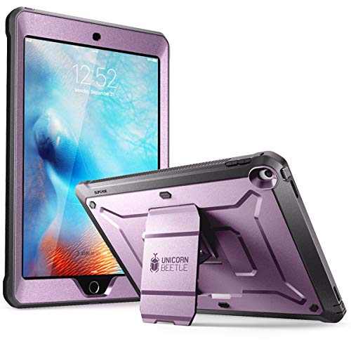 SUPCASE Unicorn Beetle Pro Series Case Designed for iPad 9.7 2018/2017 with Built-In Screen Protector & Dual Layer Full Body Rugged Protective Case for iPad 9.7 5th / 6th Generation,Violte