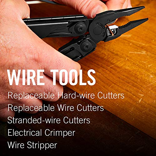 Product Image 1: LEATHERMAN – 830278 , Surge Heavy Duty Multitool with Premium Replaceable Wire Cutters and Spring-Action Scissors, Black with MOLLE Sheath