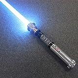 Y&Z RGB Cosplay Light Saber, 11 Colores, 5 Sonidos, Espada LED, decoloración, Mango de Metal, Star Wars Lightsaber para niños, Adultos, Fiestas navideñas (Hoja de 40 cm)