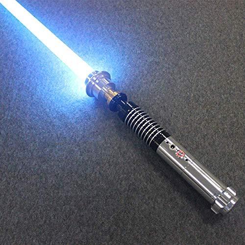 Y&Z RGB Cosplay Light Saber, 11 Couleurs 5 Sons LED épée décoloration poignée en métal, Star Wars Sabre Laser pour Enfants fête de Vacances Adulte (Lame de 40 cm)