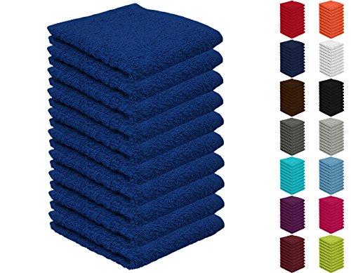 10er Pack Seiftücher, Seiflappen in vielen Farben 30x30 cm Royalblau 100{1bb8ac91d65242c0e4e9ec2fac83814158f9a63180026aacaabfbe401c682816} Baumwolle