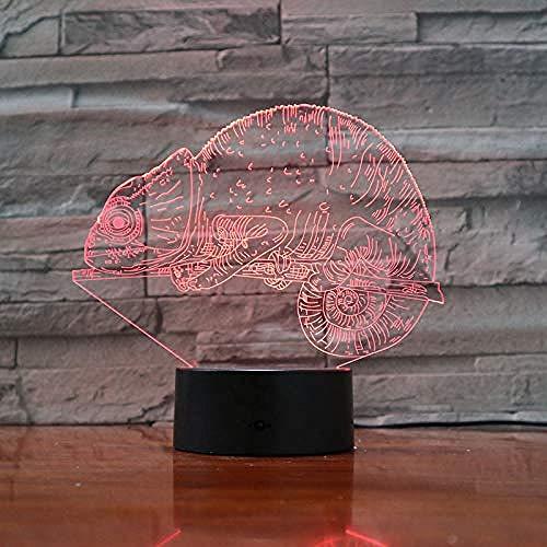 3D Ilusión Luz de Noche Dragón dragón para sala de estar, cama, bar, regalo juguetes para niños y niñas Con interfaz USB, cambio de color colorido