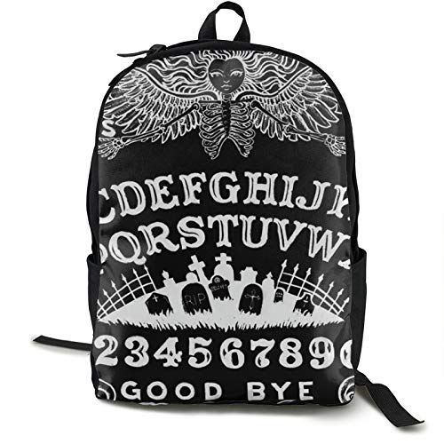 Witch Board Black Gothic Goth Occult Witchcraft Backpack Double Shoulder Sackpack For Women & Men Use For Travel, School Or Business Fits 15inch Computer