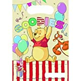 Winnie the Pooh Party Plastic Loot Bag - Pack of 6