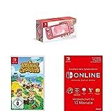 Nintendo Switch Lite, Standard, Koralle + Animal Crossing: New Horizons [Nintendo Switch] + Online Mitgliedschaft - 12 Monate | Switch Download Code