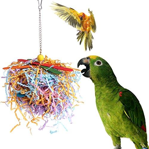 Keersi - Tiras de Papel para Masticar pájaros, para Loros, periquitos, cacatúas, cacatúas, Pinches, Canarios, cacatúas, guacamayos Grises africanos, Jaula de Amazon