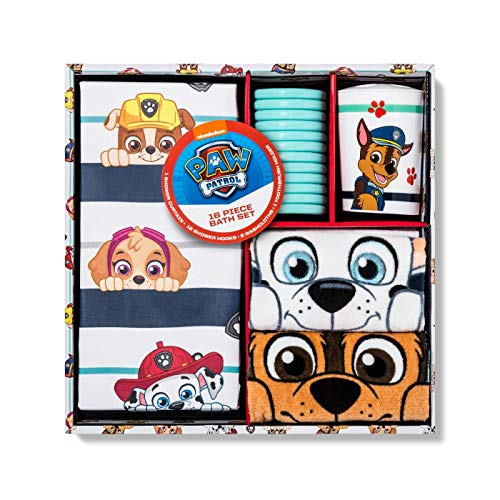 Paw Patrol Paws and Brave Shower Curtain and Hook Set