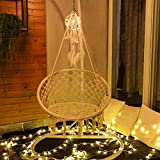 Sonyabecca Hammock Chair with LED Dream Catcher Childrens Adults Hanging Chair (Not Included Stand, Cushion)