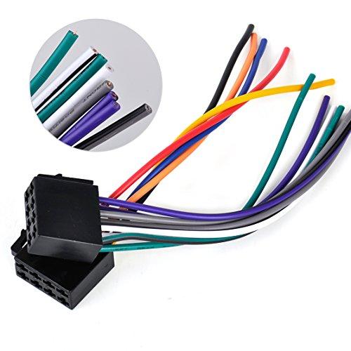 beler Câble Adaptateur Femelle pour câble d'adaptateur Universel ISO de Harnais de câble pour système stéréo de Voiture