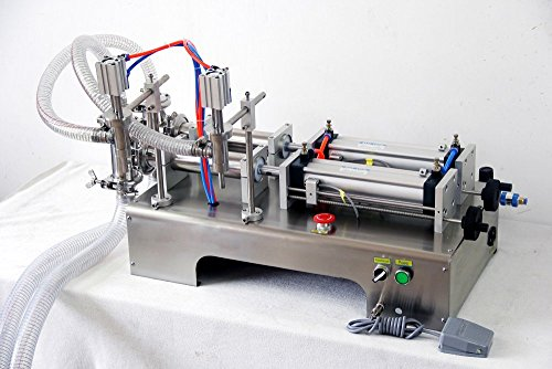 Find Discount Double Heads Liquid Filling Machine G2W, with 2 Tube Pneumatic/Two Outlets 300-2500ml ...