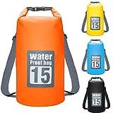 Dokpav Dry Bag 15L wasserdichte Tasche Stausack Seesack für Kajak Kanu Segeln Angeln Schwimmen...