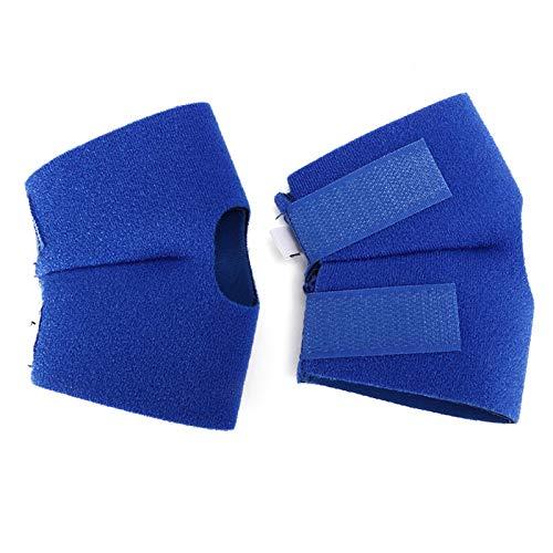 SALUTUYA Pet Knieschützer aus Polyester-Baumwolle mit Zwei Klettverschlüssen,(Blue, Back Leg L (2 pcs/Set))