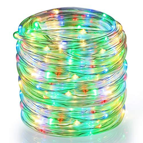 Greenclick Tubo de extensión de luces LED multicolor 336 LED para uso interior y exterior, multicolor